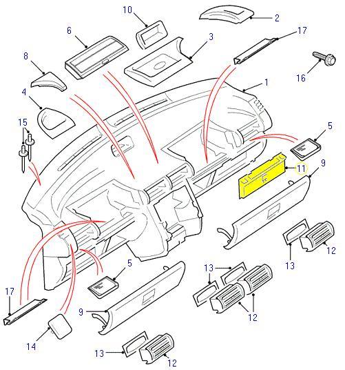 land rover fuse box cover freelander fcl000300puy. Black Bedroom Furniture Sets. Home Design Ideas