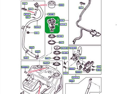 Land Rover Fuel Sender Module Amp Filter Set Range Hse 06 09