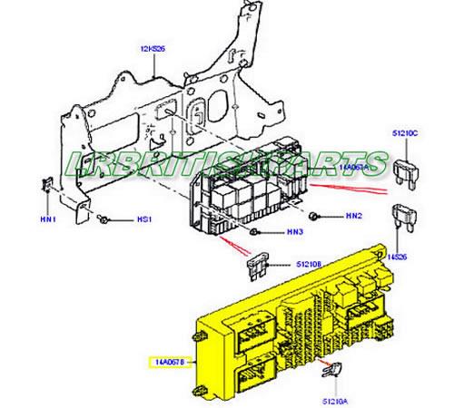 Rover Range Rover Fuse Box Diagram 300x106 2003 Land Rover Range Rover