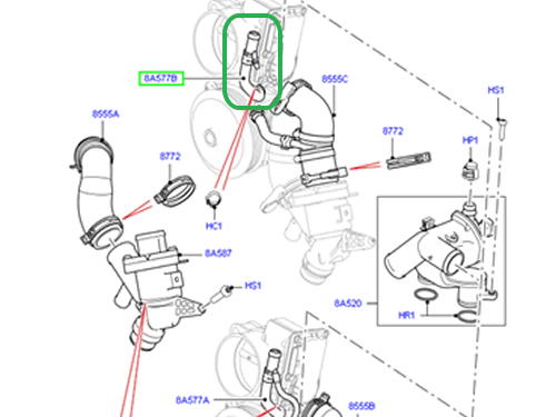 service manual  2012 land rover lr4 heater hose removal